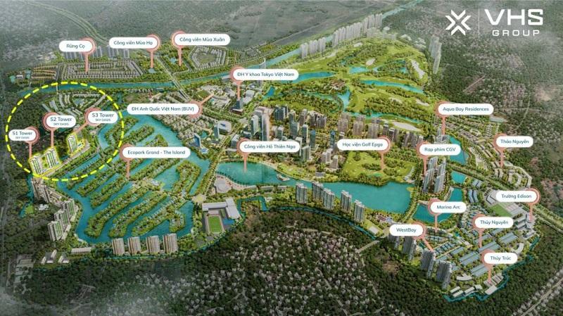 vị trí chung cư sky oasis