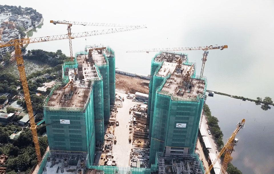 tiến độ xây dựng chung cư sun grand city quảng an